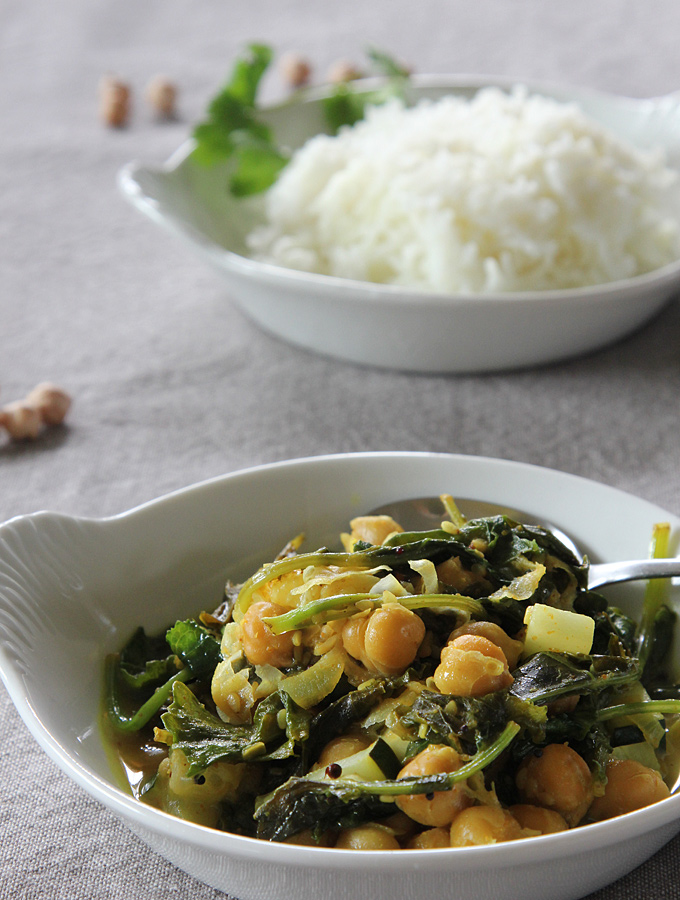 Chickpeas and Greens