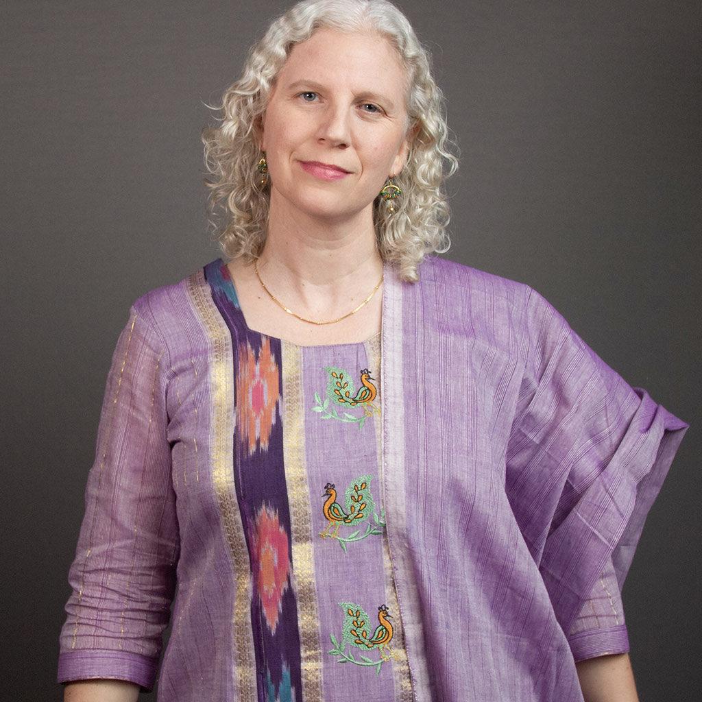 Andrea purple dress