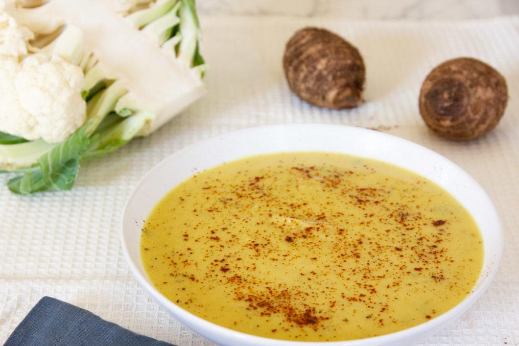 taro root soup