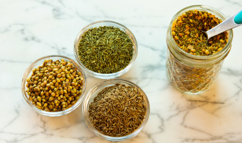 cumin, coriander, fennel tea