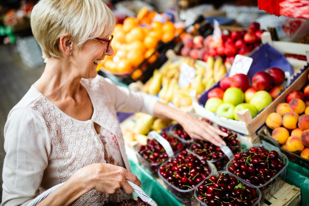 Shopper at a farmers market