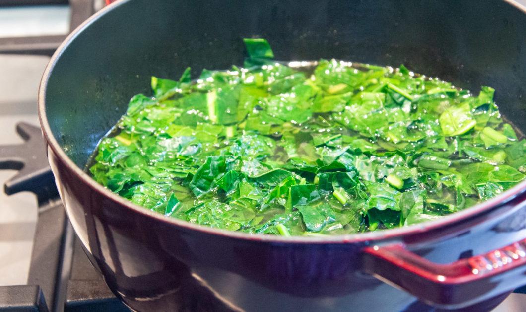 kale soup in a pot