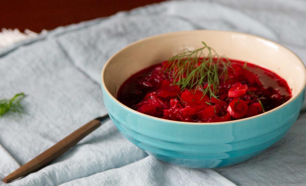 A bowl of borscht