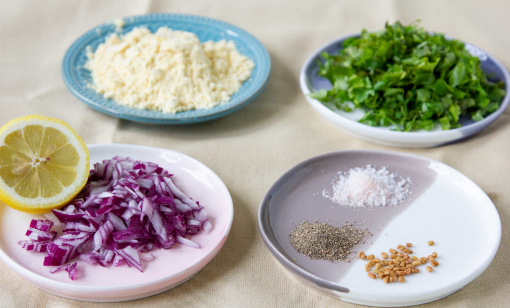 Ingredients for urad dal fritters